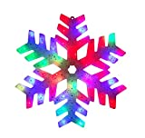 15'' LED Color Changing Christmas Snowflake Window Silhouette