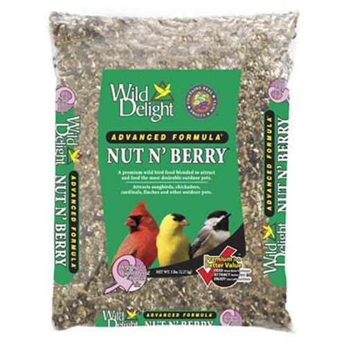 Wild Delight 366050 Nut N' Berry Bird Food, 5 lb Multi
