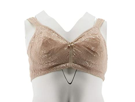 676f92a33947 Breezies Wild Rose Seamless Wirefree Support Bra Warm Beige 36DD New A260367