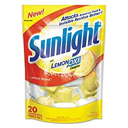 Sunlight DRK CB711021 DVOCB711021CT Auto Dish Power Packs, Lemon Scent, 1.5 oz. Single Dose Pouches (Pack of 120)