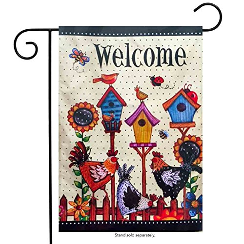 Sall Garden Flag - Roosters (Rooster Mailbox Cover)