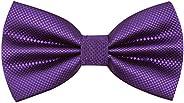 Alizeal Men's Formal Solid Adjustable Bow