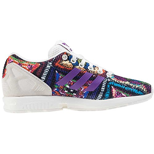 Off EU Shoes 3 adidas 2 4UK Originals White Grape ZX Flux Shoes Mid 36 nIIX6p7
