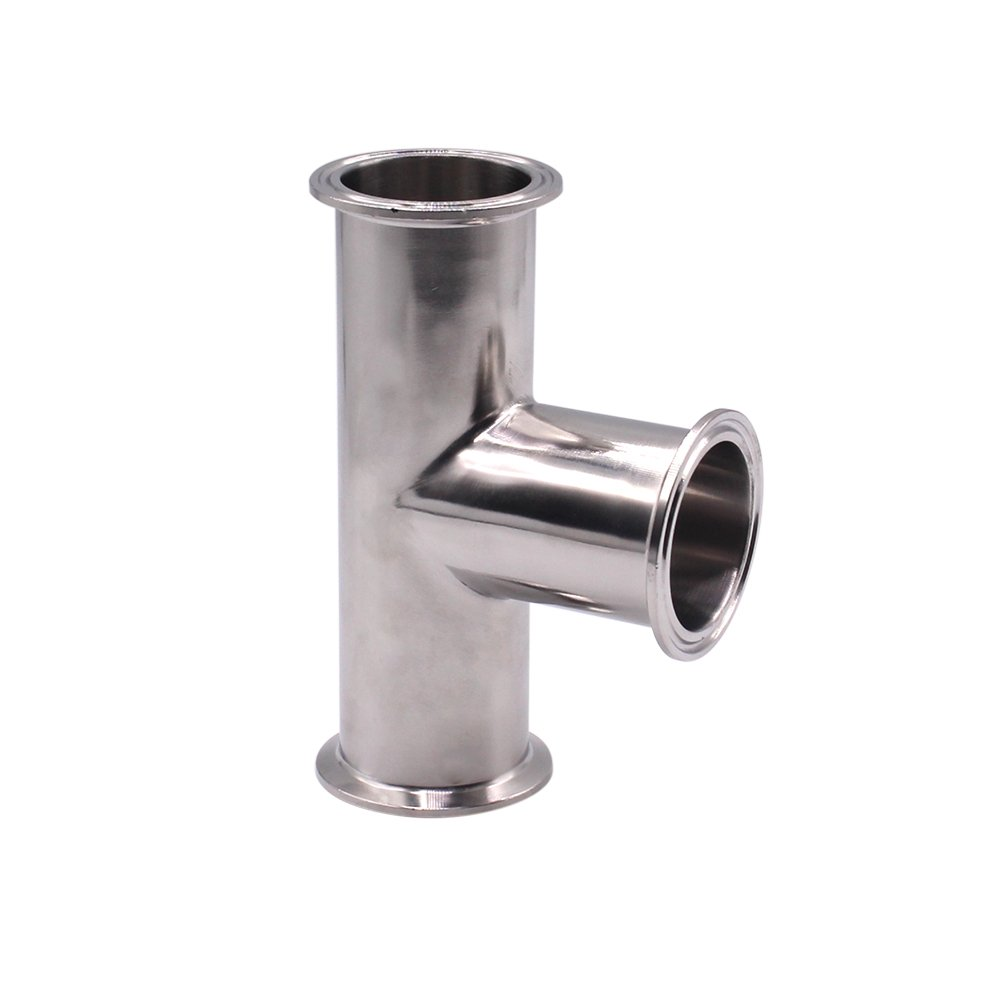 Dernord Clamp Tee 3 Way Stainless Steel 304 Sanitary Fitting Fits 2'' Tri-clamp, 51mm Pipe OD