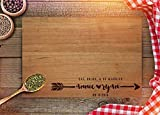 Personalized Cutting Board - Custom Wedding Gifts - Engraved Cutting...