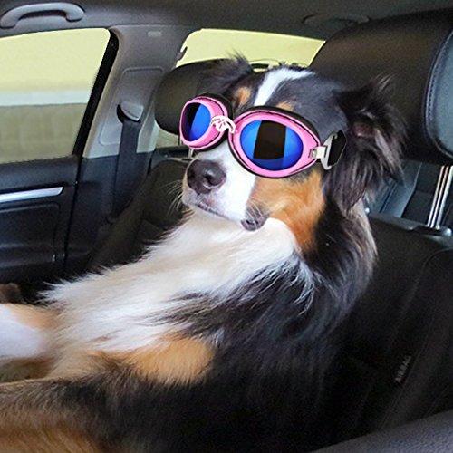 PETLESO Dog Driving Cycling Sunglasses UV Protection Waterproof Large Dog Goggles - Sunglasses Dog Large
