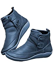 Arch Support Boots 2019 New Ankle Boots Martin Shoes Concealed Orthotic Arch Support Women's Autumn and Winter Casual Short Boots Soft Comfortable Flat Heel Boots