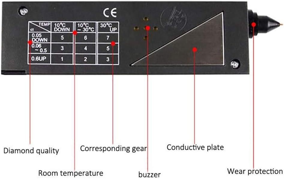 Penna per Tester di Gemme con selettore di Diamanti ad Alta precisione Strumento di Controllo rapido e Portatile per Gioielli in Pietra di Rubino di Giada NOBGP Tester Professionale per gioielliere