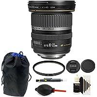 Canon EF-S 10-22mm f/3.5-4.5 USM Lens Bundle for Canon DSLR Camera