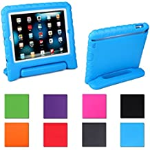 iPad Mini Case,AGRIGLEER [Kids Series]Shock Proof Convertible Handle Light Weight Super Protective Stand Cover Case for Apple iPad Mini /Mini 2/Mini 3 (Blue)