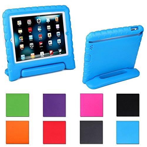 iPad Mini Case,AGRIGLEER [Kids Series]Shock Proof Convertible Handle Light Weight Super Protective Stand Cover Case for Apple iPad Mini /Mini 2/Mini 3 (Blue)