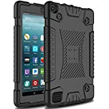 Venoro Case for All-New Amazon Fire 7 Tablet, Light Weight Shockproof Soft Silicone Defender Protective Case Cover for Amazon Kindle Fire 7 (7th Generation - 2017 Release Only) (Black)