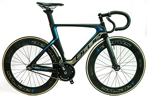 BLUE LEHIGH CARBON 55cm 700c Track Fixed Gear Single Speed Bike NEW