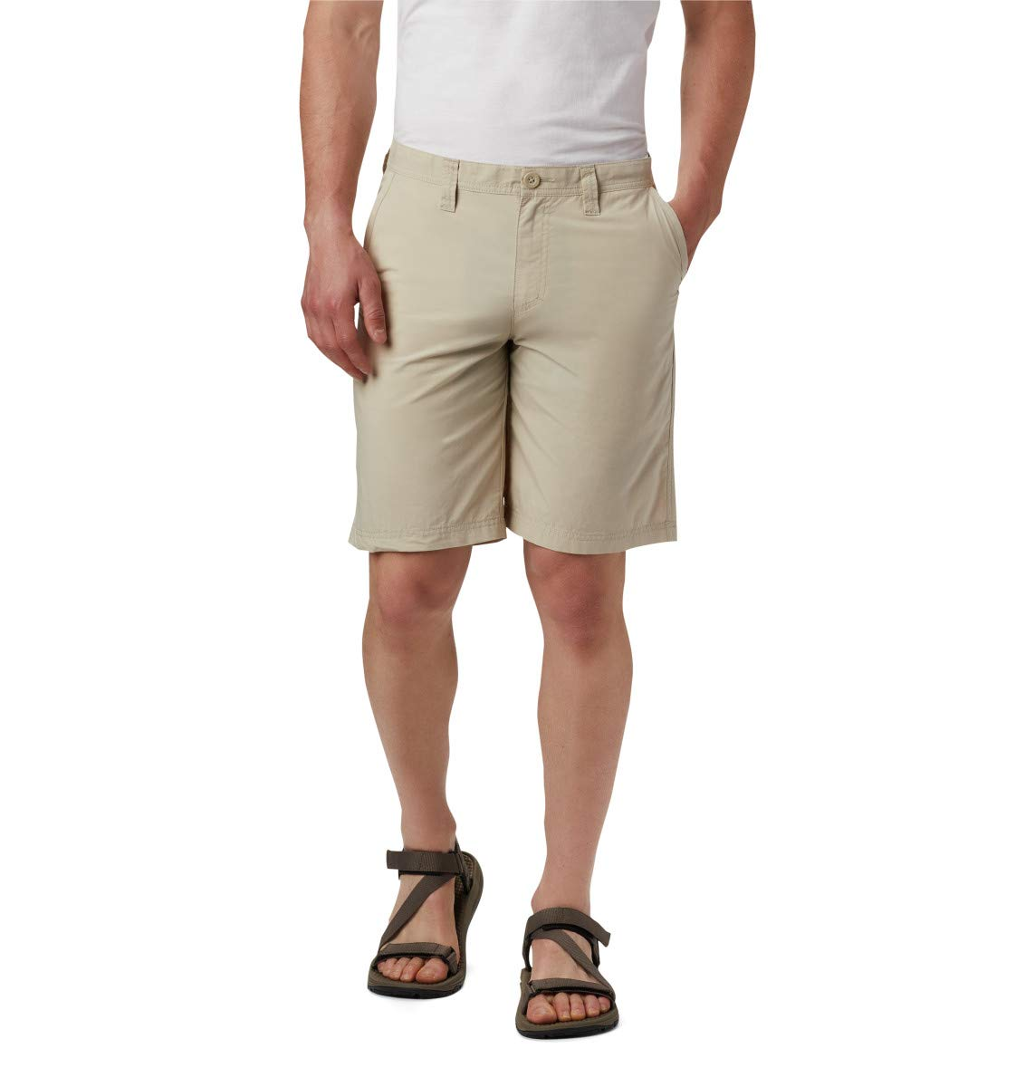 Columbia Big and Tall Men's Washed Out Chino Short, Fossil, 36x10 by Columbia