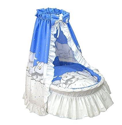 Amigos Ausstattung für Stubenwagen, Polarbär inkl. Matratze, verschiedene Farben (Blau) Polarbär inkl. Matratze