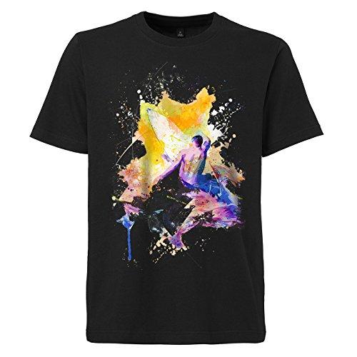 Surfer_I schwarzes modernes Herren T-Shirt mit stylischen Aufdruck