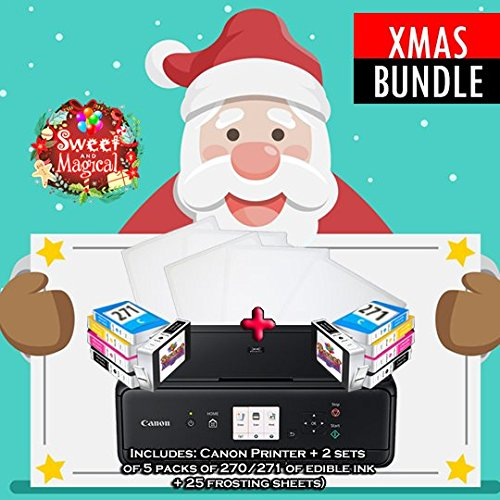 PRO-EDIBLE PRINTER BUNDLE COMES WITH CANON PRINTER,2 SETS OF EDIBLE INK + 25 FROSTING SHEETS
