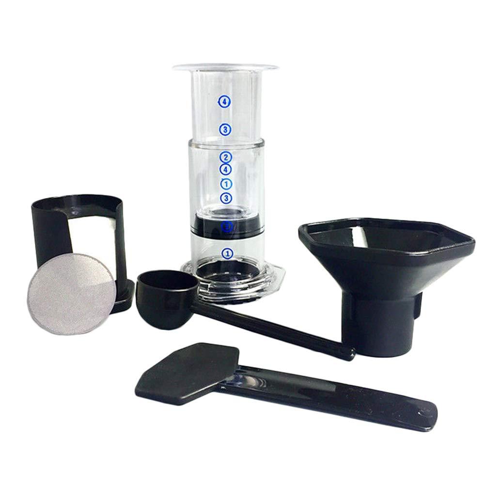 Hand grinder,longdelaY6 Portable Coffee Espresso Maker Press Pot Filter Paper Machine Filtering Tool Set - Transparent