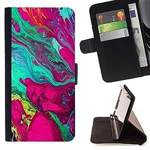 Dragon Case- Caja de la carpeta del caso en folio de cuero del tir¨®n de la cubierta protectora Shell FOR Samsung Galaxy S5 Mini SG870a, SM-G800- Art Pattern