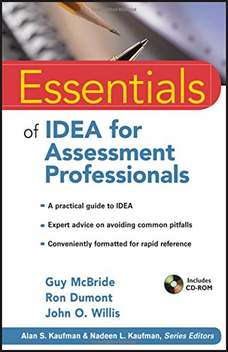 Essentials of IDEA for Assessment Professionals