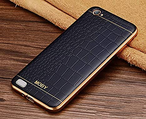 09beb508d Vaku ® Oppo Neo 7 European Leather Stitched Gold: Amazon.in: Electronics