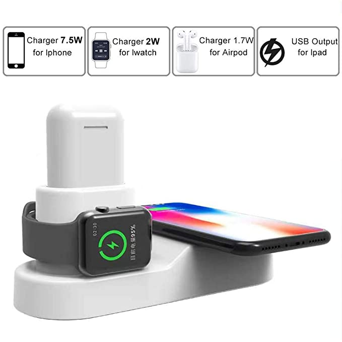 FACEVER 36W 3in1ワイヤレス充電スタンド、USB出力付、急速同時ワイヤレス充電器対応Apple iWatch Airpods iPhone XS MAX XR ...