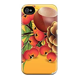 Premium Fall Daisies Back Cover Snap On Case For Iphone 4/4s