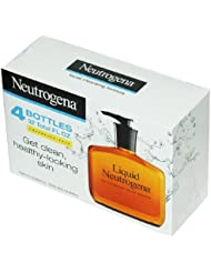 Neutrogena Fragrance Free Liquid Neutrogena, Facial Cleansing Formula, 8-Ounce Pump Bottles (Pack of 4)