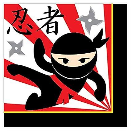 Amazon.com: Ninja Party Lunch Napkins (16): Toys & Games