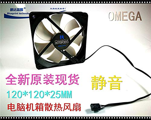 12025 cm REFIT New Mute 12 cm 120 25 mm 12 v Computer case Small air Cooling Fan