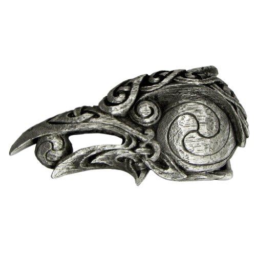 Pewter Celtic Knot Raven Belt Buckle