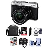 Fujifilm X-E3 Mirrorless Camera W/XF 18-55mm f/2.8-4 R LM OIS Zoom Lens, Silver - Bundle With Camera Case, 16GB SDHC U3 Card, 55mm UV Filter, Cleaning Kit, Memory Wallet, Card Reader, SoftwarePackage