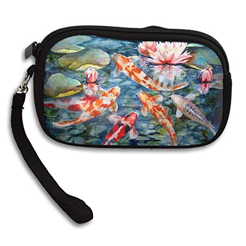 Portable Purse Printing Japanese Koi Fish Small Receiving Lotus Deluxe Bag rnY0IWqY