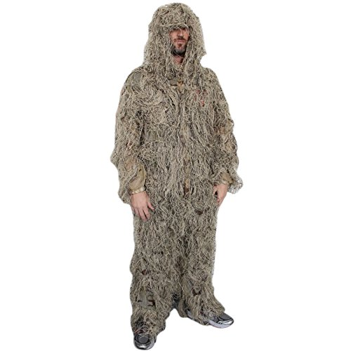 SAS Yellow Ghillie Suit with Carrying Bag 2 - Suit Large Ghillie Pants