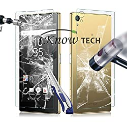 iKNOWTECH Front + Back Clear Full Body Tempered Glass Screen Protector For Sony Xperia Z5 Premium 2015