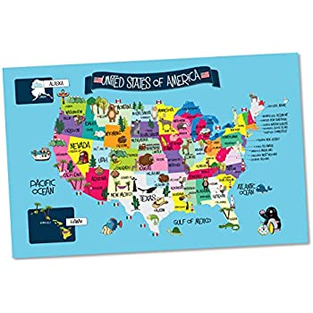 Usa Map Memory Game And Activity Paper Placemats Learn The States And Capitals On 25 Fun Double Sided Worksheets