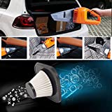 Goodqueen Portable 6-in-1 Electric Car Vacuum Cleaner, Wet/Dry Dust w/ 5m Cable Automotive Cleaning 12V 150W (Black)