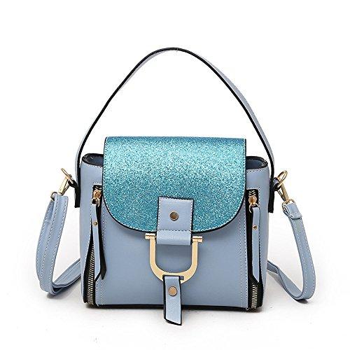 GWQGZ Nuevo Señoras Bolso Bolso Todos-Match Personalidad Azul Blue