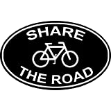 """Share The Road Bumper Sticker Cyclists 4.5"""" X 4.5"""""""