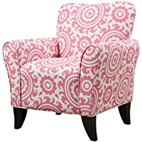 Handy Living Sasha Chair in Magenta Medallion