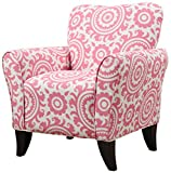 Handy Living Sasha Chair in Magenta Medallion For Sale