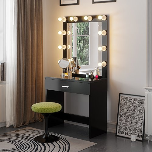 lighted bedroom vanity tribesigns vanity set with lighted mirror makeup vanity 12113