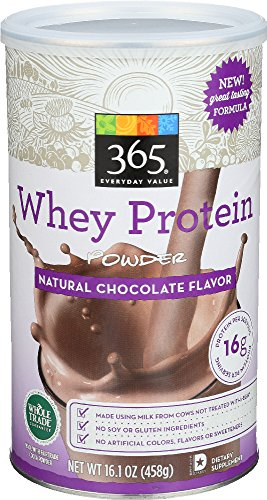 365 Everyday Value, Whey Protein Powder, Natural Chocolate Flavor  , 16.1 oz 51us69SbTlL