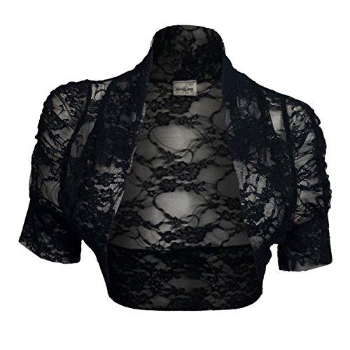 Plus Size Floral Lace Bolero Shrug