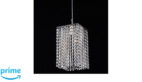 Limited Edition 1 Light 7 Mini Pendant With Clear European Crystal In Chrome