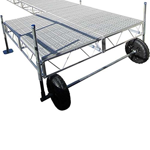 AMRP10496 * Patriot Docks 16' Roll-In Floating Patio Dock w/ Poly Decking (Rollin Patio Dock)