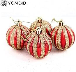Bosun(TM) 6pcs Christmas tree balls 7cm adornos navidad christmas decoration for home enfeite