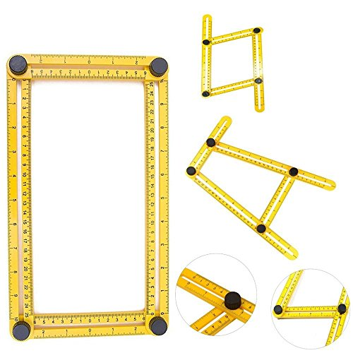 Angleizer Template Tool Improved, Measure All Angles | Easy To Use | Tightening Mechanism | Angleizer measuring Ruler | For Craftsman Handymen Builders | A Must - Ford Grass Saw