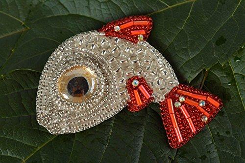 Handmade Brooch Designer Brooch Glass Brooch Beaded Brooch Unusual Accessory -