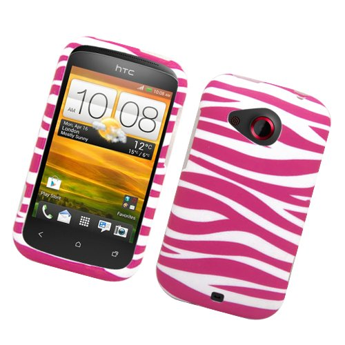 Eagle Cell PIHTCDESIRECR129 Stylish Hard Snap-On Protective Case for HTC Desire C - Retail Packaging - Pink Zebra (Htc Desire C Cover compare prices)